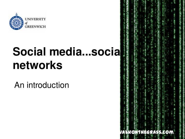 Greenwich social networking (3hrs)