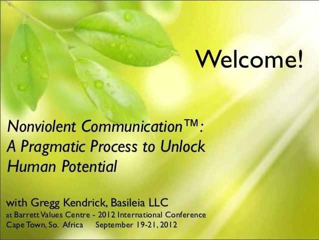 Gregg Kendrick - Nonviolent Communication