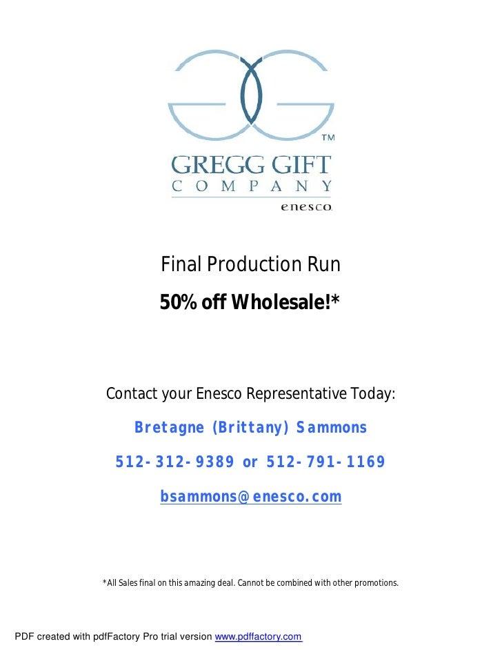 Greggs Final Production Run Sept09