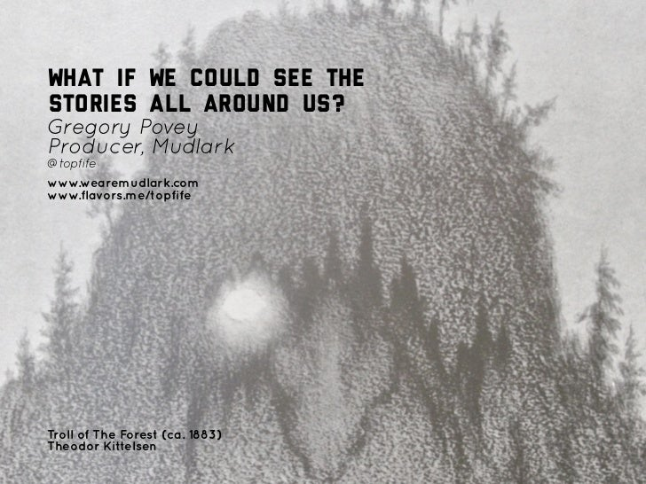 """Gregory Povey — """"What if we could see the stories all around us?"""" — Culture Hack North, 12/11/11"""