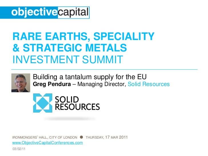 Building a tantalum supply for the EU