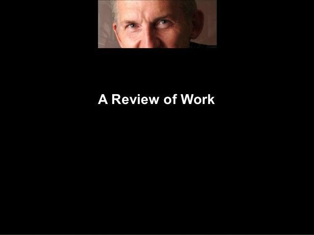 Greg Werner Review Of Work 02 Seminar Material Development