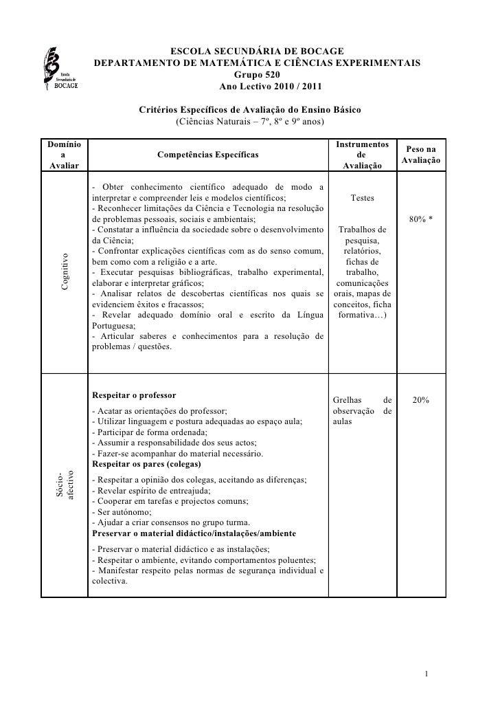 ESCOLA SECUNDÁRIA DE BOCAGE                DEPARTAMENTO DE MATEMÁTICA E CIÊNCIAS EXPERIMENTAIS                            ...