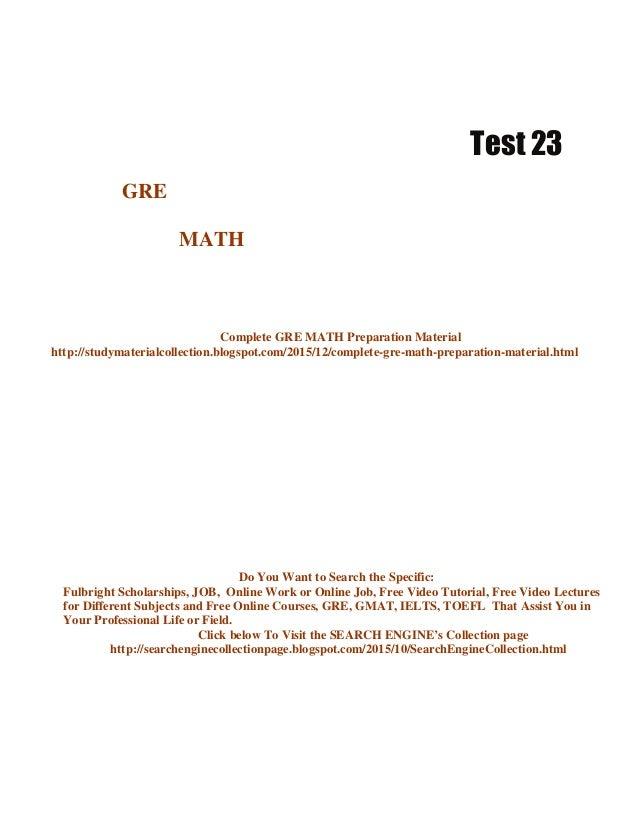 gre practice test pdf 2015