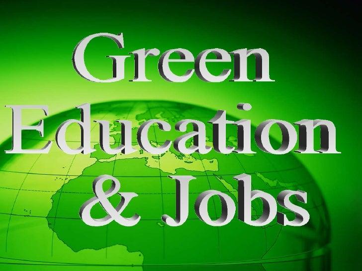 Green Education & Jobs