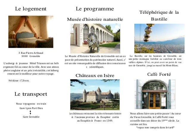 Le logement 3 Rue Pierre Arthaud 38000 Grenoble L'auberge de jeunesse Hôtel Trianon est un héb ergement lié au cœur de la ...