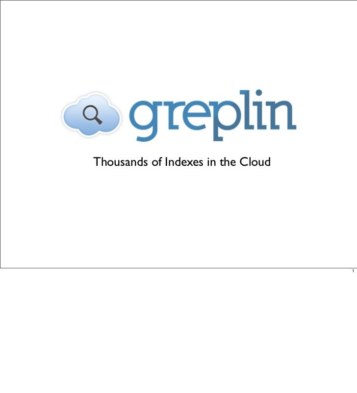 Thousands of Indexes in the Cloud                                    1