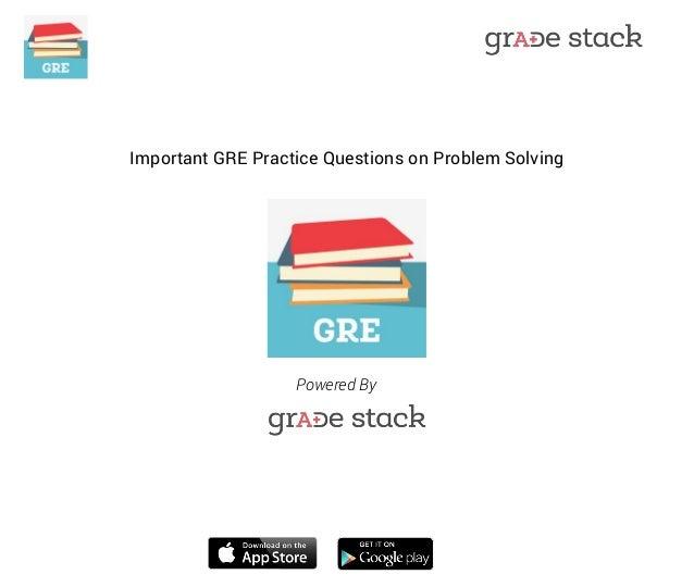 gre problem solving practice questions