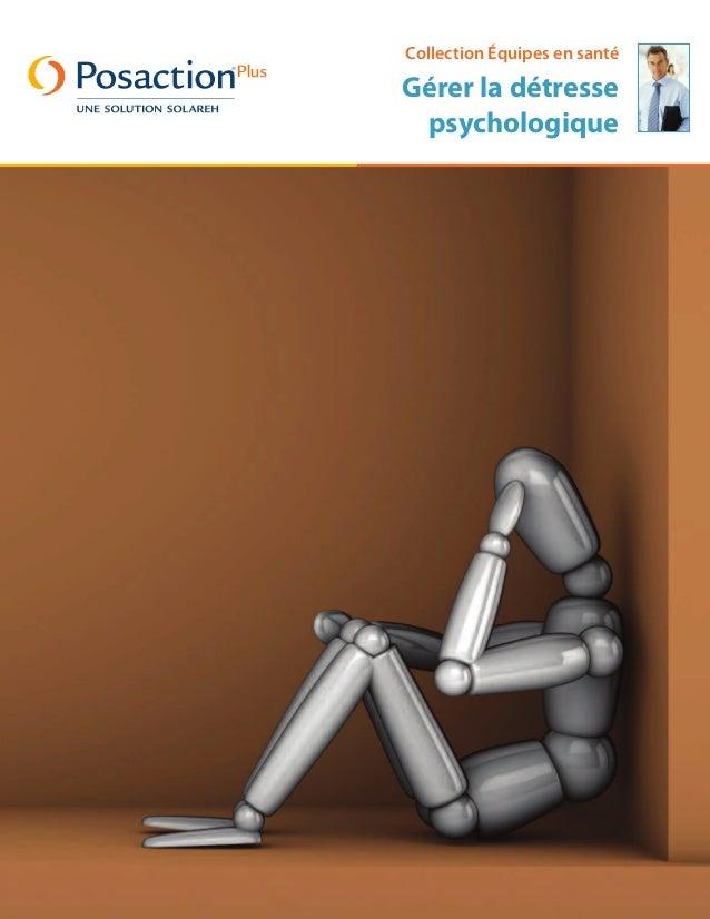 Collection Équipes en santé Gérer la détresse psychologique