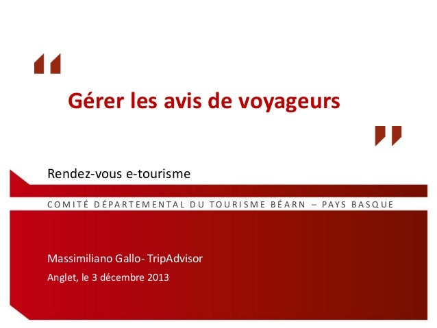 RDV e-tourisme : Gérer les avis de voyageurs