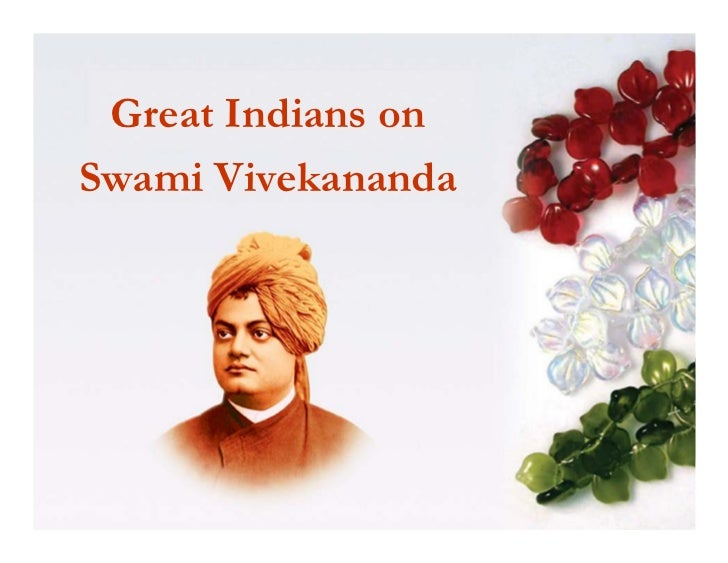 Great Indians onSwami Vivekananda