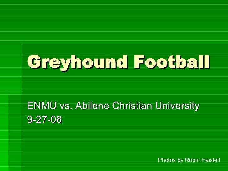 Greyhound Football 9 27 08