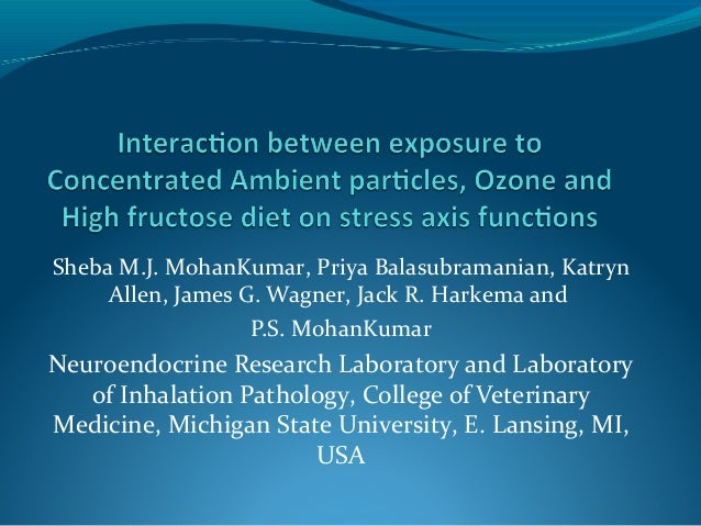 Interaction Between Exposure To Concentrated Ambient Particles, Ozone And Diet On Stress Axis Functions