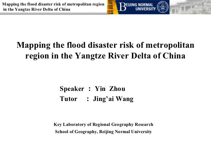 Mapping the flood disaster risk of metropolitan region in the Yangtze River Delta of China