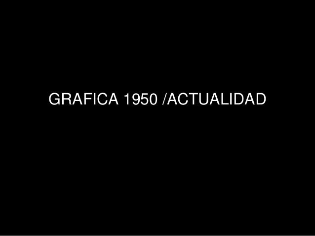 GRAFICA 1950 /ACTUALIDAD