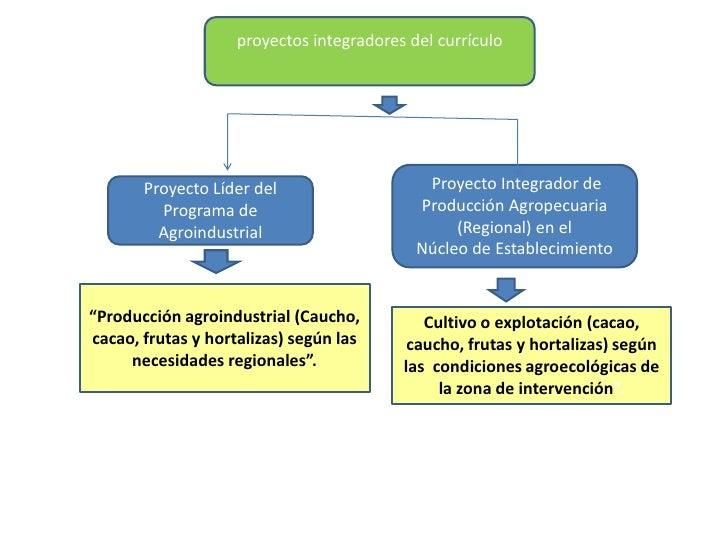 proyectos integradores del currículo <br /> Proyecto Integrador de Producción Agropecuaria (Regional) en el<br />Núcleo de...