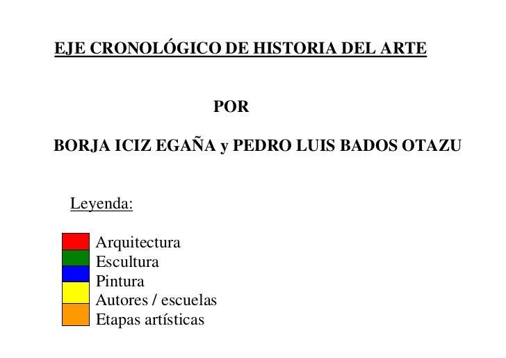 GráFico   Eje CronolóGico De La Historia Del Arte