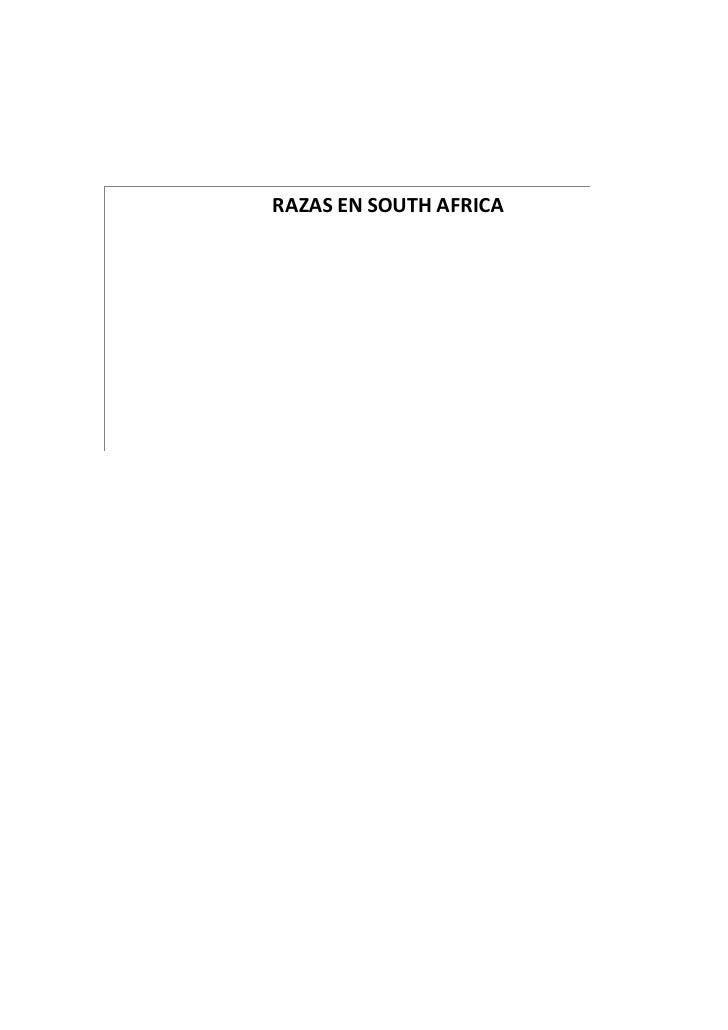 RAZAS EN SOUTH AFRICA