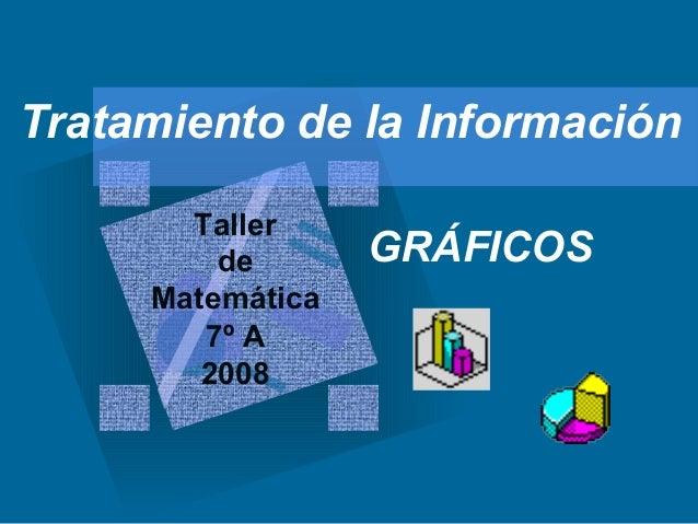 Tratamiento de la Información GRÁFICOS Taller de Matemática 7º A 2008