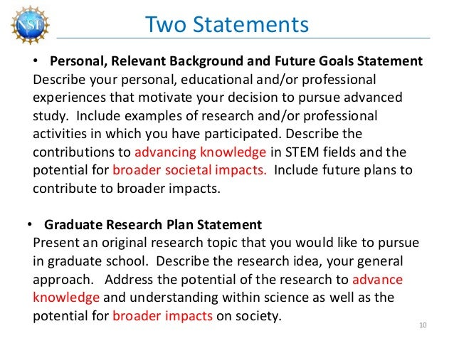 nsf grfp personal statement Krystal vasquez personal statement, relevant background & future goals nsf grfp 2017 1 i wasn't always sure if i was going to make it through college.