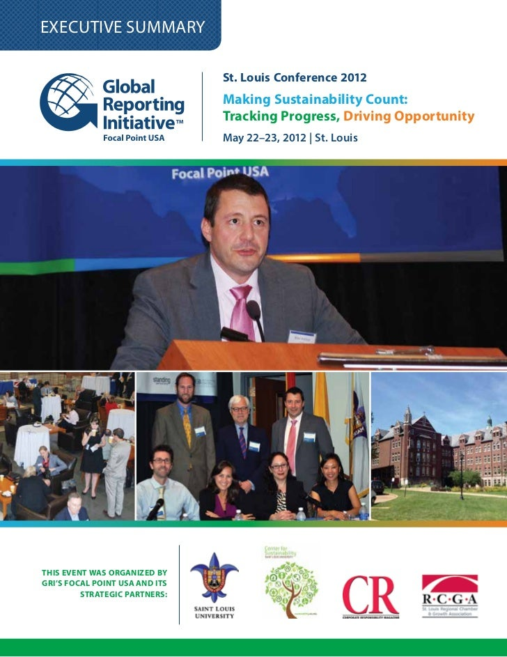 GRI US Conference Executive Summary - St Louis May 2012