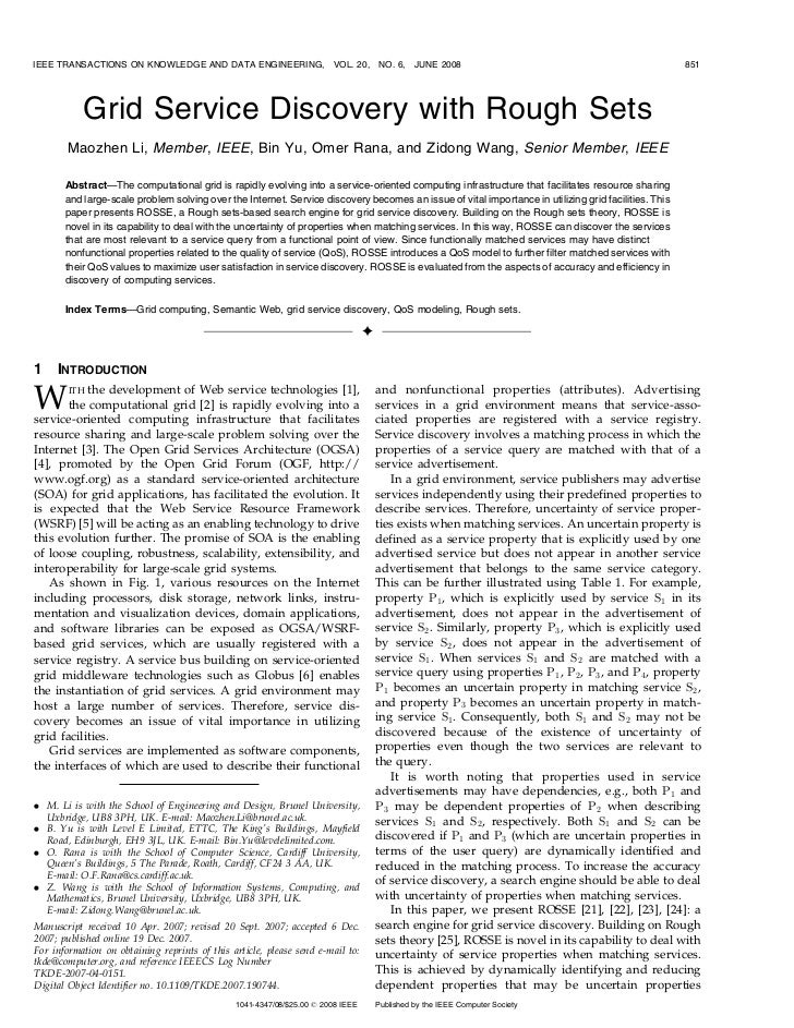 IEEE TRANSACTIONS ON KNOWLEDGE AND DATA ENGINEERING,                    VOL. 20,     NO. 6,    JUNE 2008                  ...