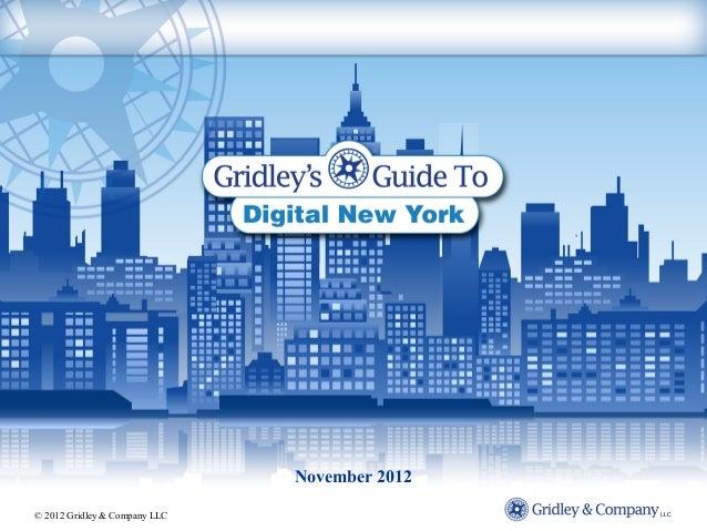 Gridley's Guide to Digital NY November 2012
