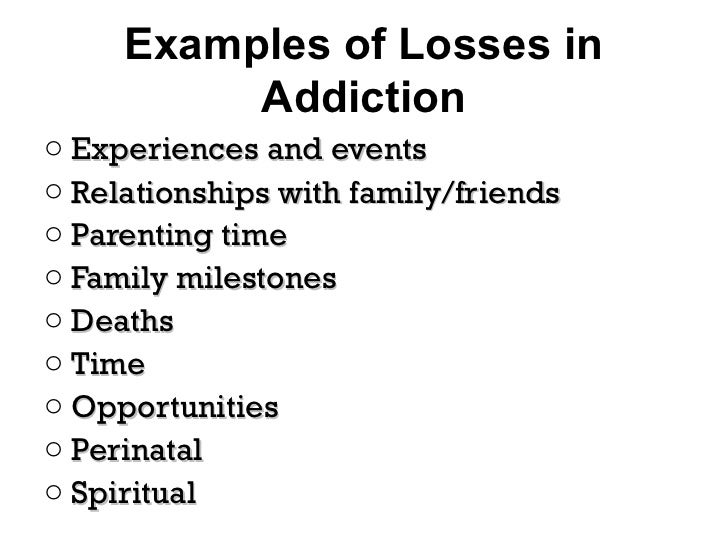 early drug recovery and relationships