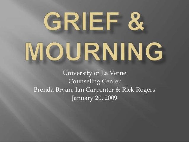 University of La Verne Counseling Center Brenda Bryan, Ian Carpenter & Rick Rogers January 20, 2009