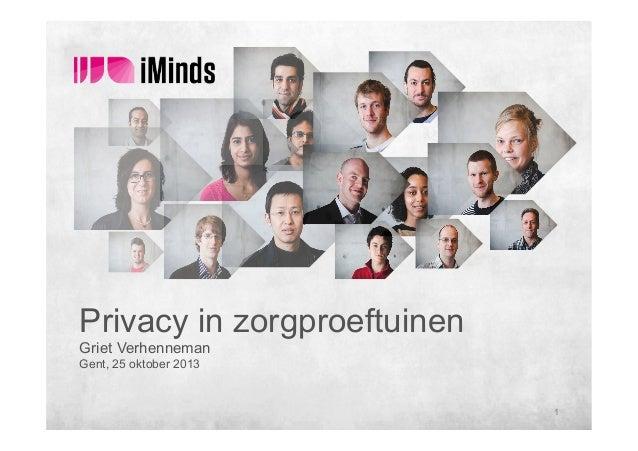 Griet Verhenneman - Privacy in zorg proeftuinen