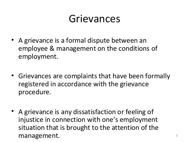 grievance management procedures Grievance management is key to a successful project our free e-book details key principles and best practice approaches to managing grievances and complaints.