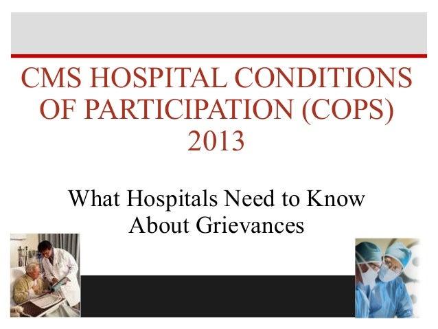 Grievances  complaints ex hospital