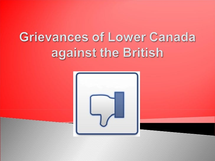 Grievances of Lower Canada