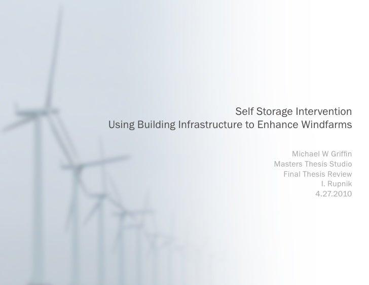 Final Graduate Thesis: Self Storage Intervention