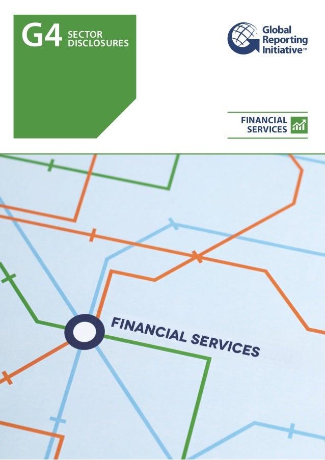 GRI G4 Suplementos Servicios Financieros