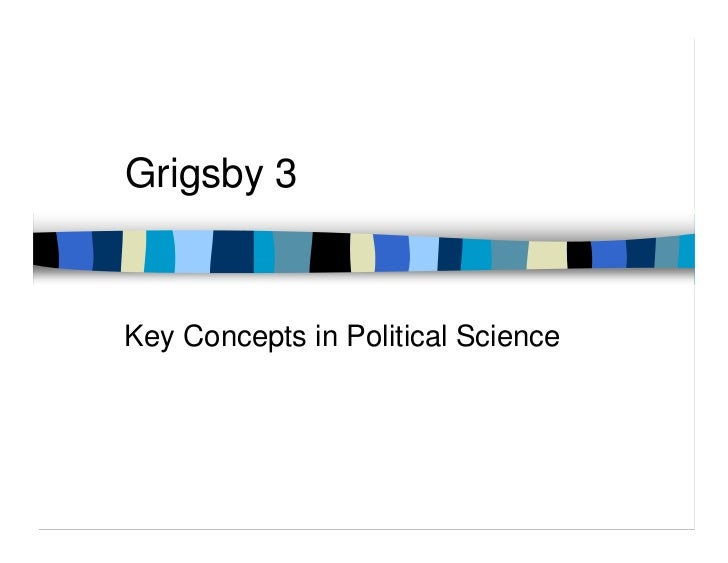 Grigsby 3Key Concepts in Political Science
