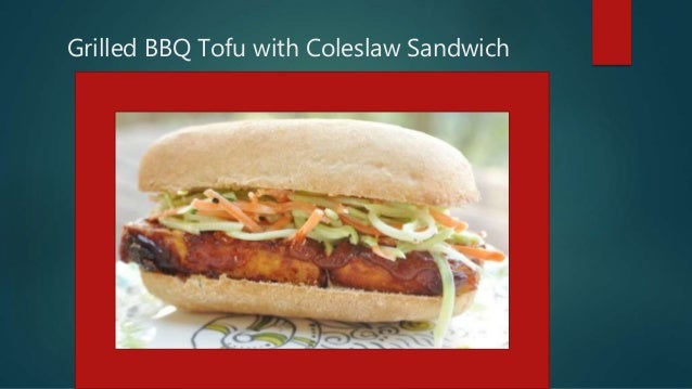 Grilled bbq tofu with coleslaw sandwich pp