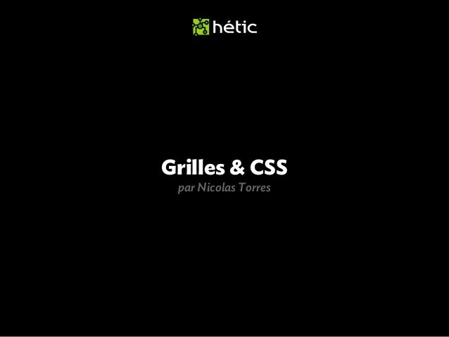 Formation Grilles & CSS