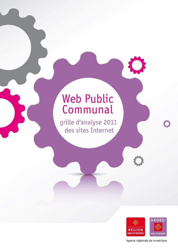Web Public Communal : grille d'analyse 2011 des sites Internet
