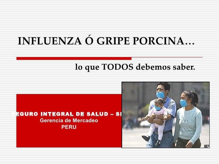 Gripe Porcina 30.04.09