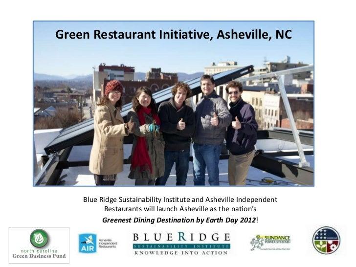 Green Restaurant Initiative 2012