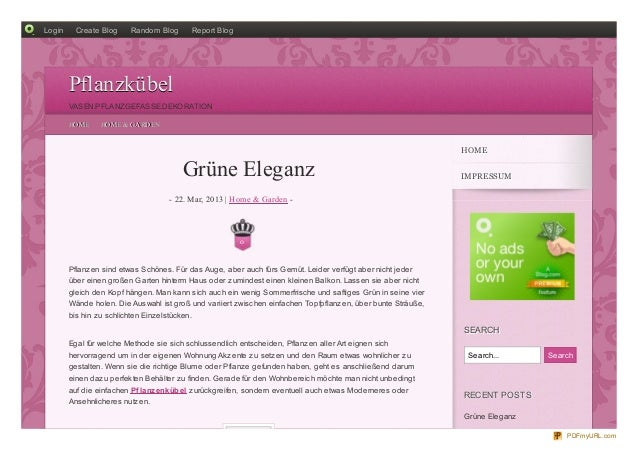 Login     Create Blog      Random Blog           Report Blog        Pflanzkübel        VASEN.PFLANZGEFASSE.DEKORATION     ...