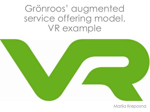 Grönroos' augmented service offering model. VR example Mariia Kreposna