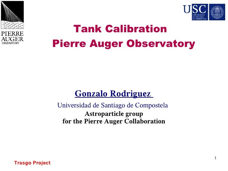 G Rodriguez  Tank Calibration