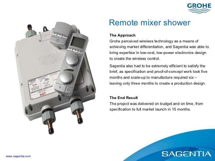 Case Study: Remote mixer shower