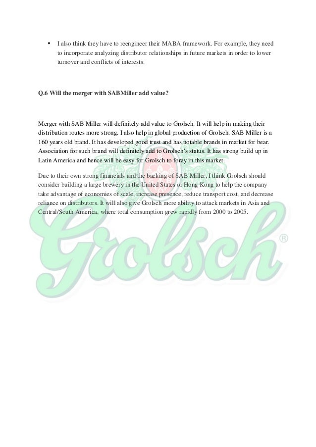 grolsch case essay A tipsy tip: grolsch beer with the re -sealable lid not  took a tote of grolsch to  problem case, a wayfarer wiz two.