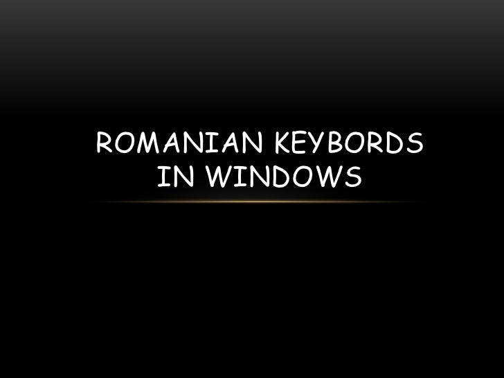 G:\romanian keybords