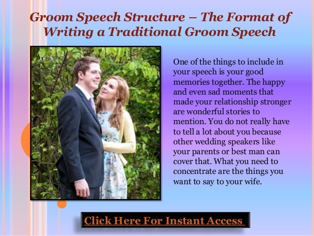Writing grooms speech