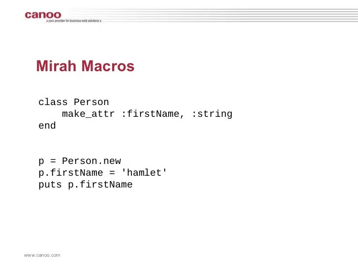 Person Person Mirah Mirah Macros Class Person