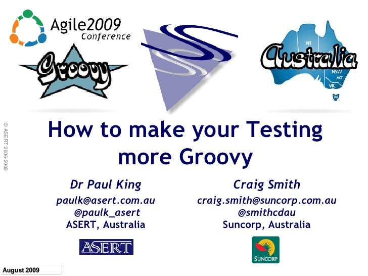 Groovy Testing Aug2009